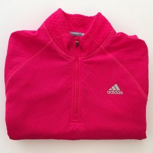 Adidas Clima Warm Long Sleeve Running Top Pink Med
